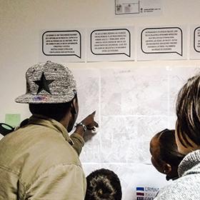 Teke lab,  programa orientado a la construcción y vivencia colectiva de los barrios desde el mapeo participado, colaboración con Tekeando