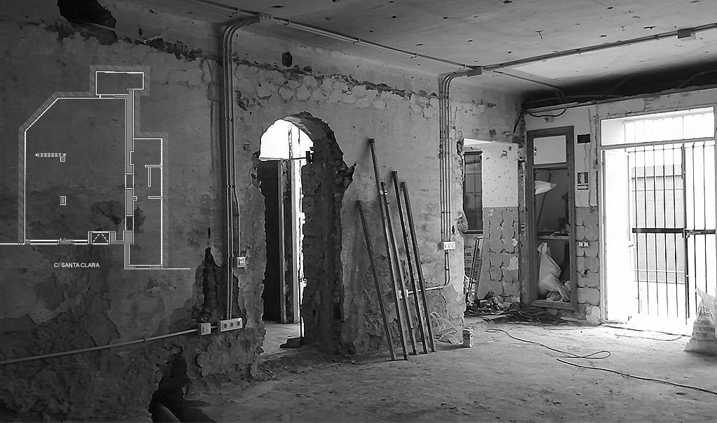Interior reforma oficinas ENLACE